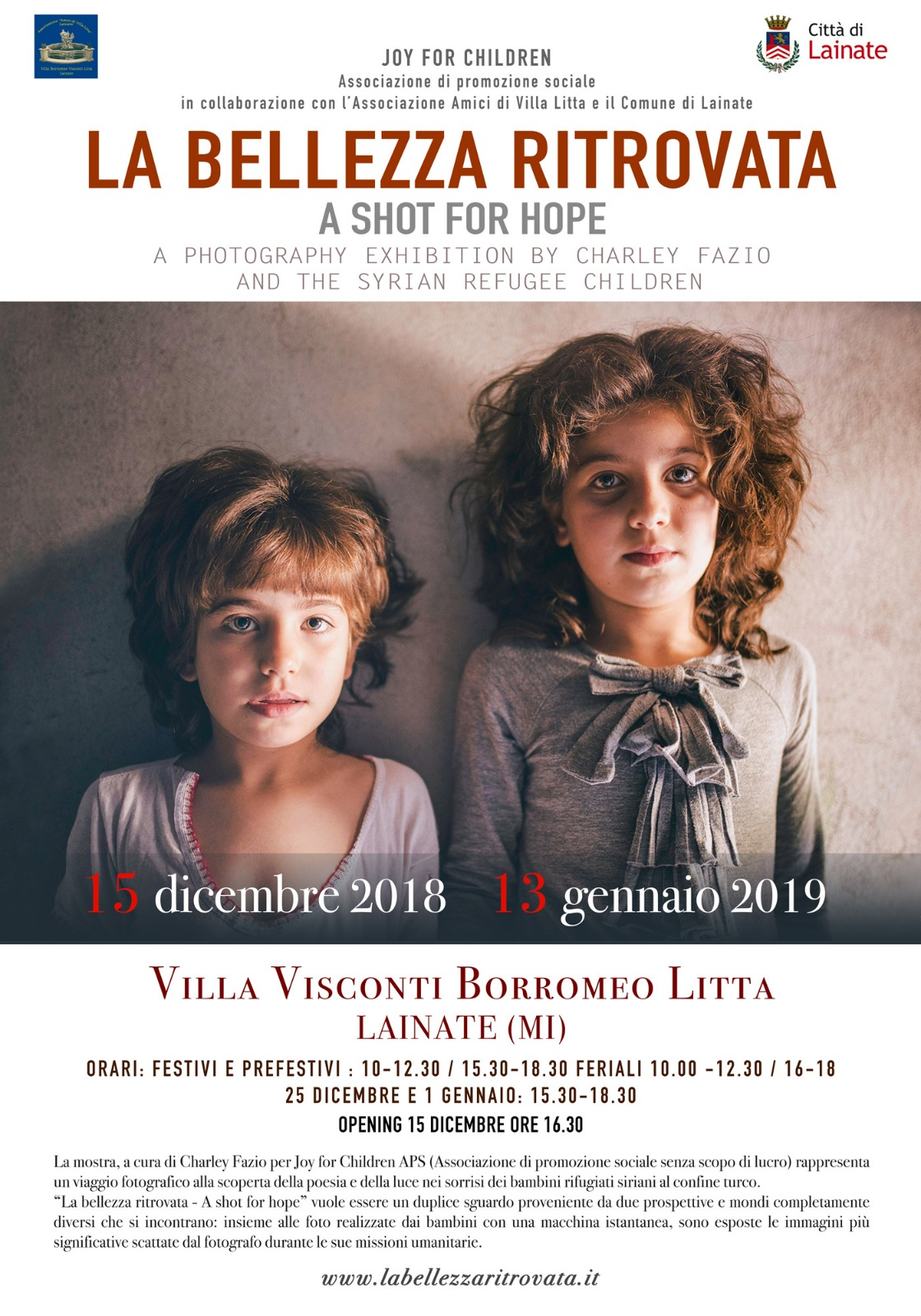 Mostra fotografica 'La bellezza ritrovata – A shot for hope